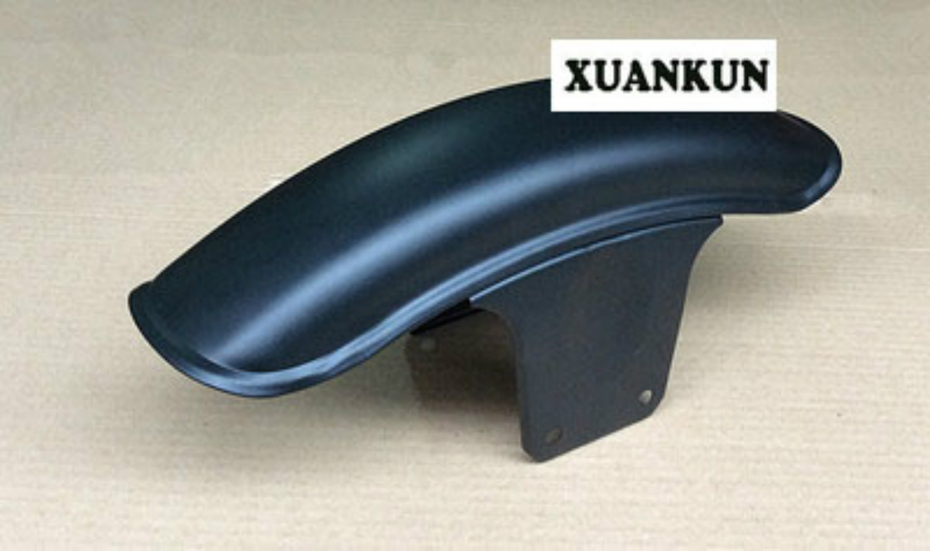 GS125 Motorcycle Retrofit Front Fender Before Masonry