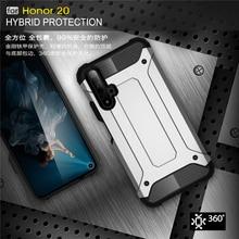 For Huawei Honor 20 funda a prueba de golpes armadura de goma funda trasera resistente para Huawei Honor 20 funda para honor 20 caso