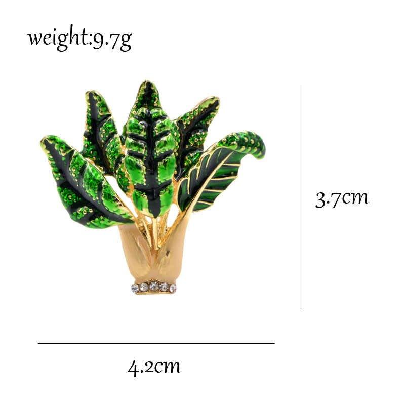 Cindy Xiang Enamel Cina Kubis Bros Sayuran Yang Lucu Bros dan Pin Mantel Musim Dingin Aksesoris Kualitas Tinggi Hadiah Tahun Baru