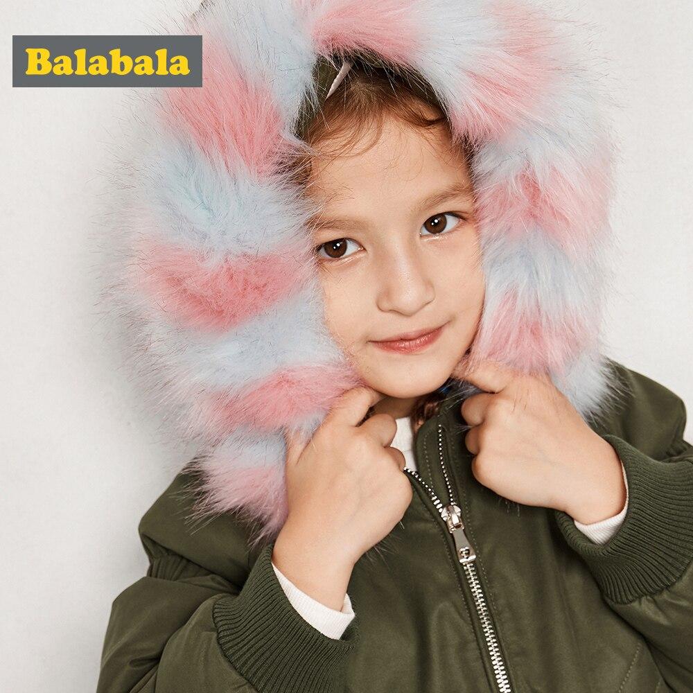 Balabala enfants hiver Floral laine filles bas vestes manteau chaud mode enfants vêtements à capuche bébé filles veste 2-7Y