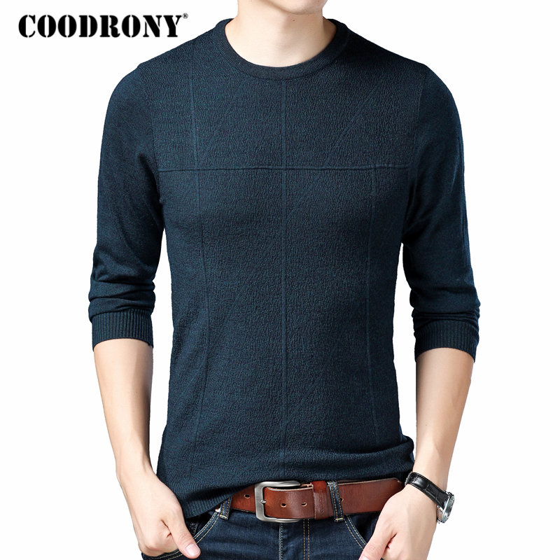 COODRONY Pullover Men Sweaters Winter Knitted O-Neck Homme Woolen Autumn Casual Cashmere