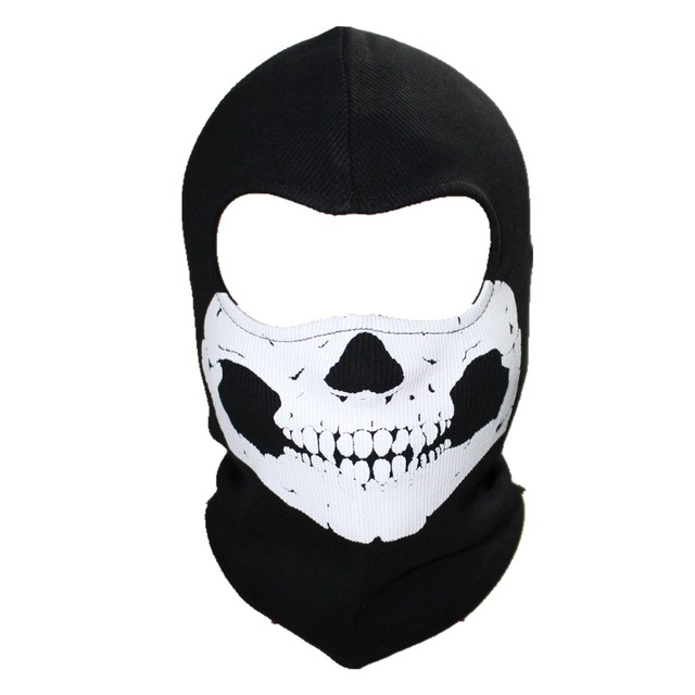 Ghost Skull Full Face Mask Beanie