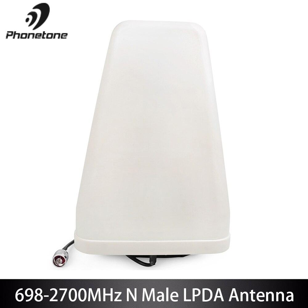 Antenne extérieure LPDA pour amplificateur de Signal de téléphone portable 11dbi GSM 3G 698-2700 MHz directionnel LTE & 10 m câble N connecteur mâle