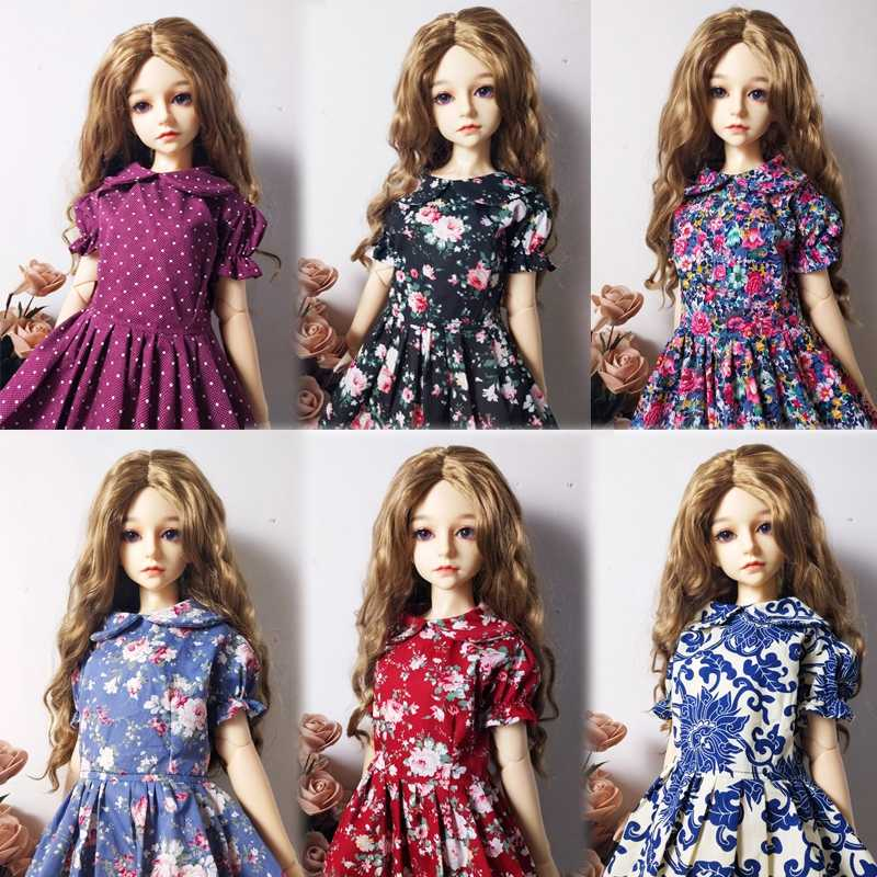 1/6 Handmade Fashion Flower Dress BJD SD Doll Clothes For Height 26-28cm Dolls Accessories Comfortable Fabric  Toys For Children