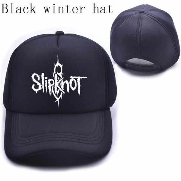 ... Summer Style Fashion Men cap Black Snapback cap Men s hat Cotton Rock  Band Slipknot Baseball ... e28a2fe33d31