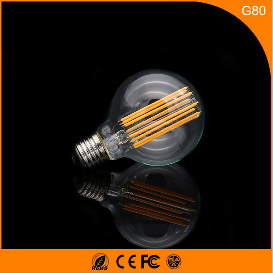 50Pcs Vintage Design Edison Filament E27 B22 LED Bulb ,T45 40W Energy Saving Decoration Lamp Replace  Incandescent Light AC220V 1pcs e27 t80 led energy saving lamp light bulb velas led decorativas home lighting decoration 40w ac85 265v led lamp