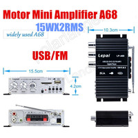 2x15W RMS 2ch Output Power Amplifier USB SD Card Audio Stereo FM Amplifier Remote Control Digital