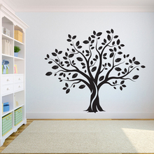 Tree Wall Decal Sticker Bedroom tree of life roots birds flying away home decor big  wall sticker A7-006