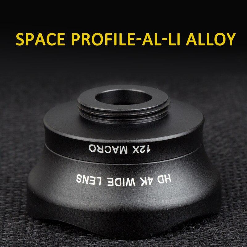 Nulaxy 2 en 1 Mobile Téléphone Lentille 4 K HD grand angle lentille + 12x macro téléphone camera lens pour iPhone X 7/8 plus Samsung smartphone