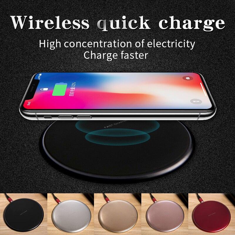 KUNFINE 10 watt Qi Drahtlose Ladegerät für iPhone X/8 Sichtbar Schnelle Drahtlose Lade pad für Samsung S9/ s9 + S8 Hinweis 9 9 + 8 Xiaomi Huawei