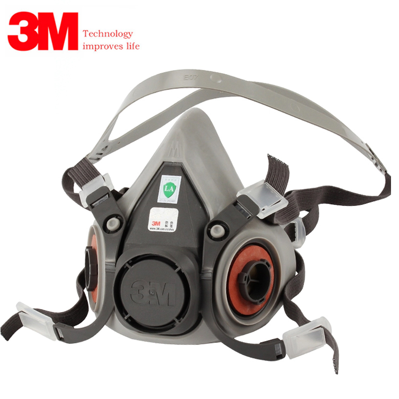 3M 6200 Half Facepiece Respirator Organic Gas Protection Dust-proof Mask Gas Mask Anti Haze Painting Spraying Protective Mask