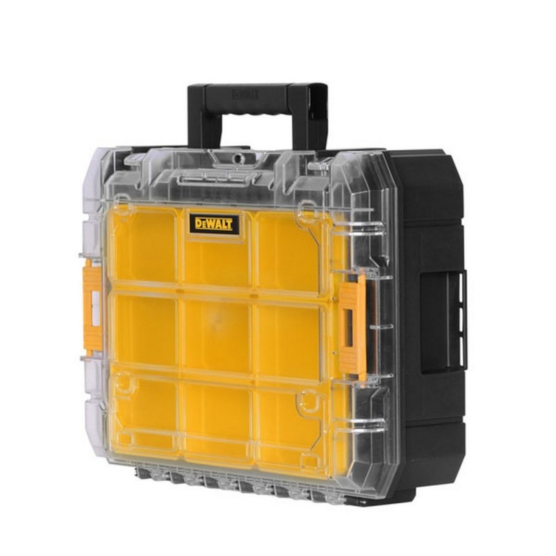 DEWALT DWST1-71194-Organizer With Lid Transparent TSTAK V 440mm X 332mm X 145mm