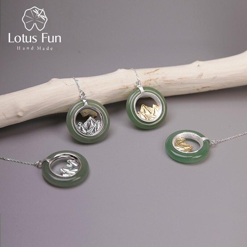 Где купить Lotus Fun реальные 925 серебро ручной работы Ювелирные украшения классический Восточный элемент Mountain Дизайн Висячие серьги для Для женщин