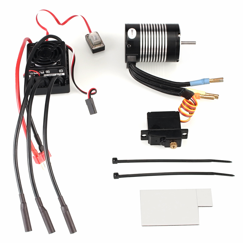 Waterproof B3650 4300KV 3300KV <font><b>brushless</b></font> <font><b>motor</b></font> 60A ESC metal servo assembly set For WLtoys 12428 A959-B Quality <font><b>RC</b></font> Car Parts image