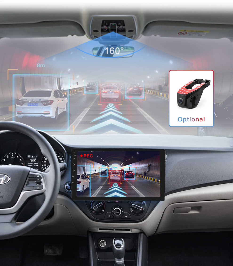 Pantalla 2din 2.5D Radio para coche Android 8,1 reproductor Multimedia navegación GPS para Hyundai solaris verna accent 2016 autoradio