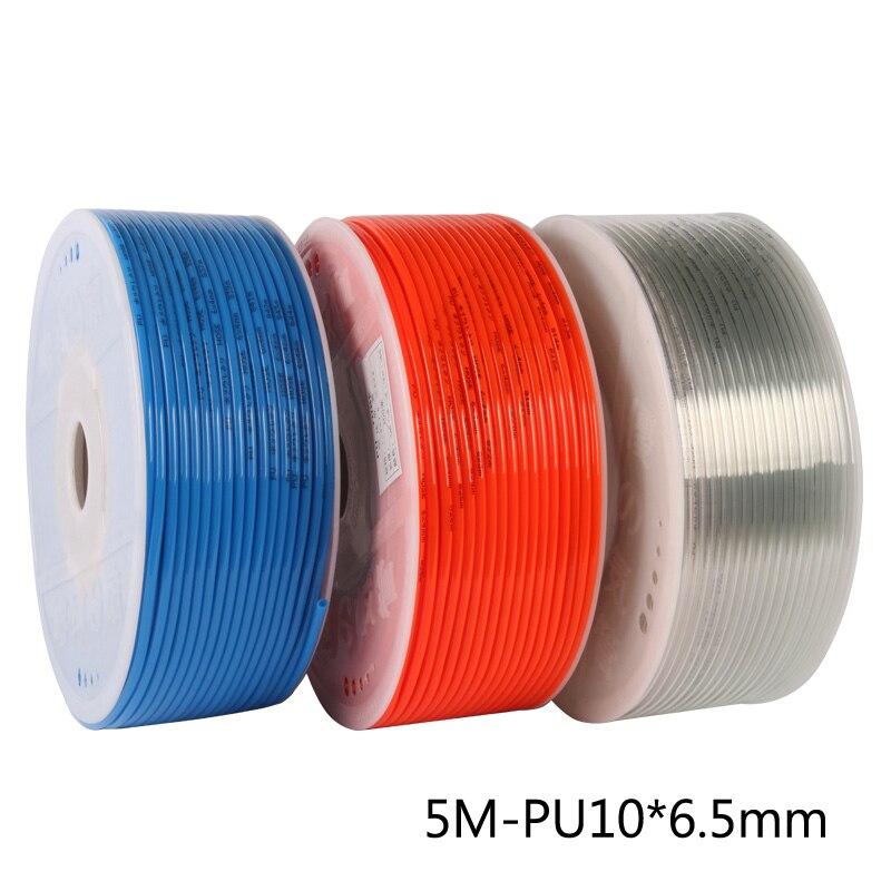 7 5m expandable hose 5M/Lot PU10*6.5 PU Pipe Air Compressor Hose