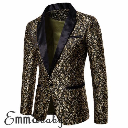 Autumn Winter Men Smart Casual Suits Coats Hot 2019 Fashion Slim Stylish Luxury Casual Vintage Blazer Suit Jacket High Quality
