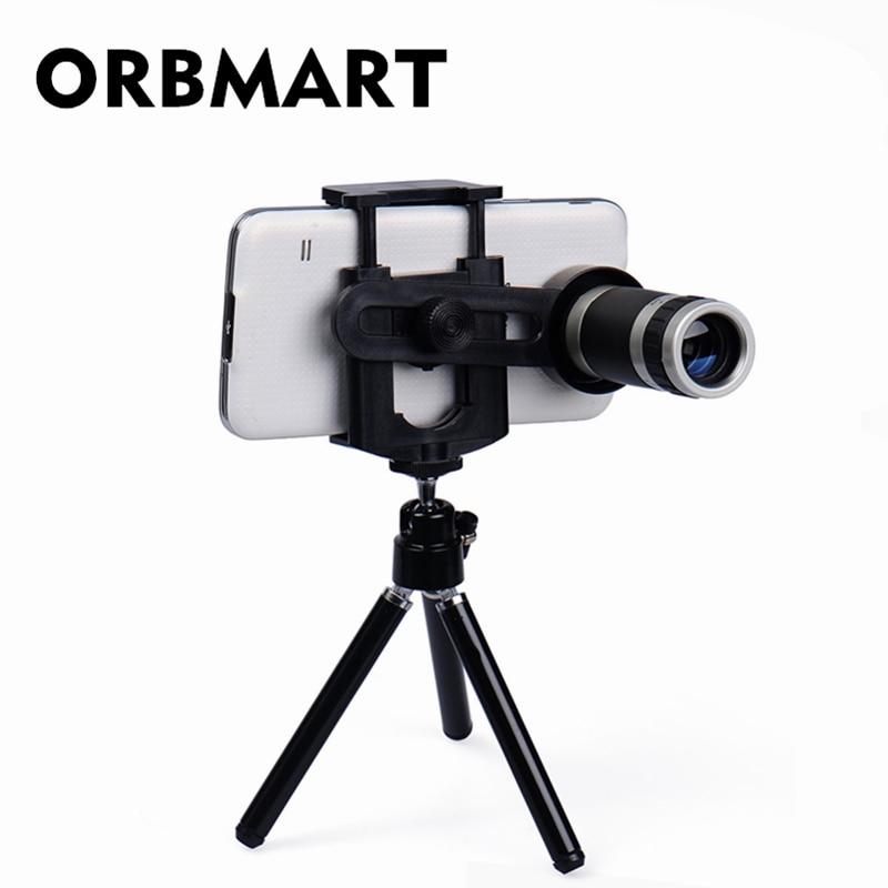Телескоп ORBMART 8X Zoom для мобильного телефона, объектив с мини-штативом для iPhone 5S 6 6 S Plus Samsung S6 S5 Note 5 4 Xiaomi Doogee