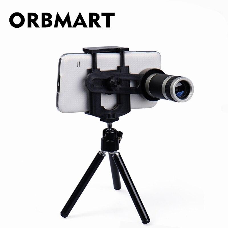 ORBMART 8X Zoom télescope lentille de téléphone portable avec Mini support de trépied pour iPhone 5s 6 6 S Plus Samsung S6 S5 Note 5 4 Xiaomi Doogee