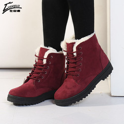 Women boots 2017 winter boots women warm fur ankle boots for women warm winter shoes botas.jpg 250x250