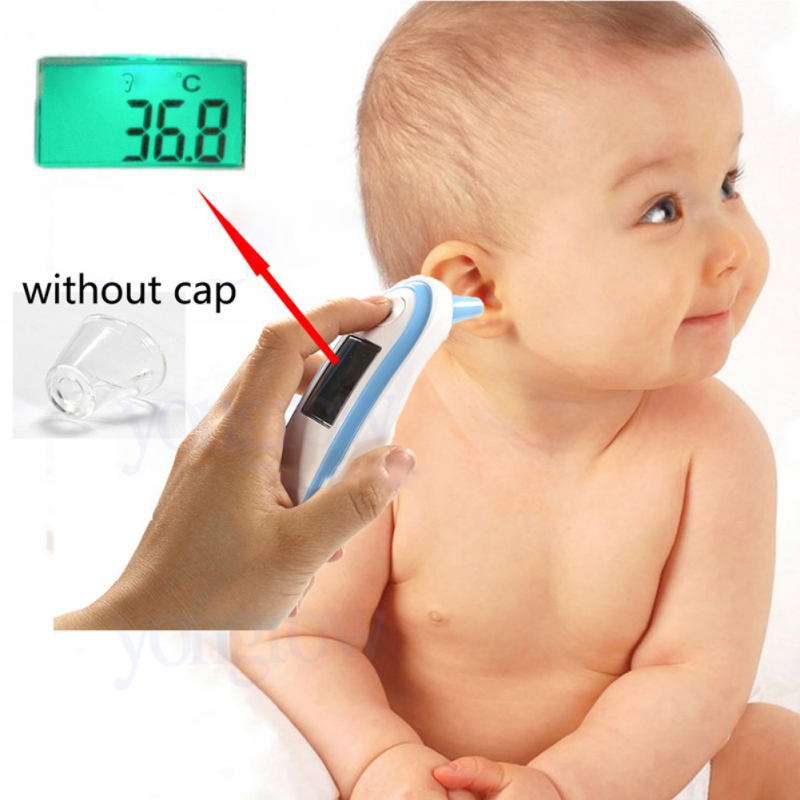 Body Infrared Thermometer Medical Ears Infant Thermometer Digital Thermometer Fever Adult Thermometer Solid Color j2