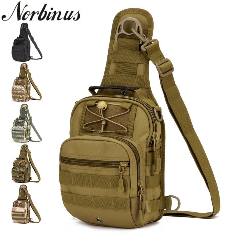 Norbinus Military Chest Bag Men Sling Bag Nylon Tactical Shoulder Bag Crossbody Bags for Men Back Pack Travel Handbag Rucksacks цена