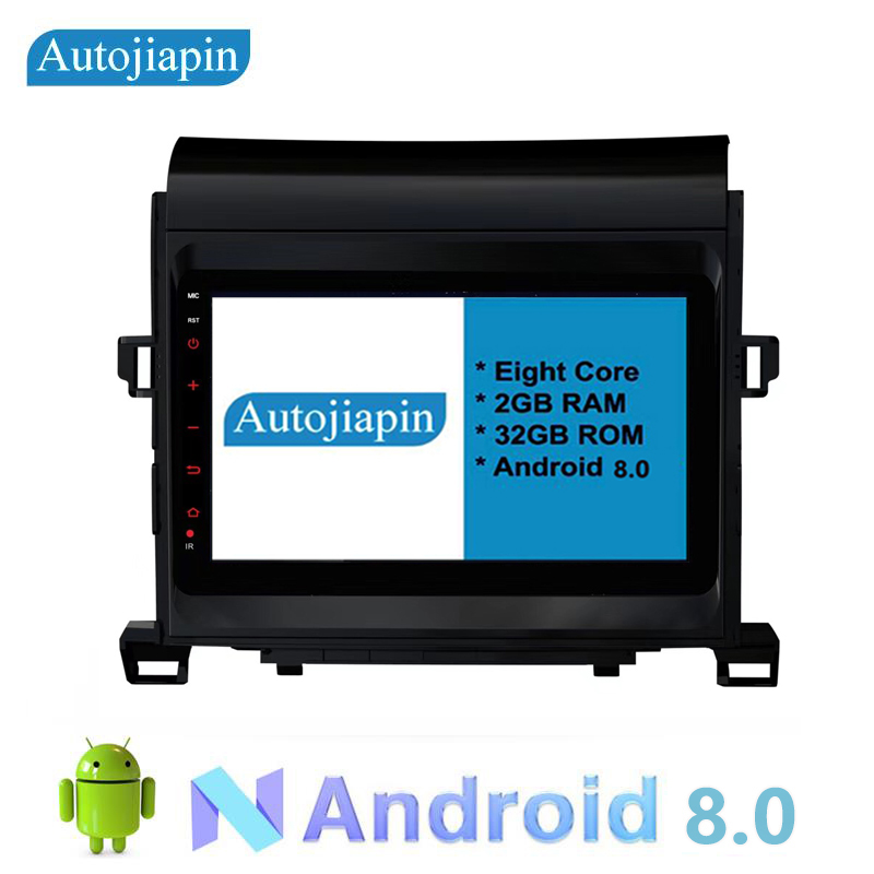 AUTOJIAPIN Eight Core Android 8.0 2G RAM 1024*600 Car multimedia GPS Navi player With Touch Screen For TOYOTA Alphard 2010 2014