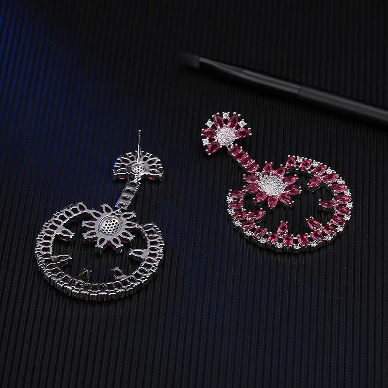 GAOLA nouvelle haute qualité AAA CZ boucles d'oreilles pour les femmes de mariée de mariage bijoux de luxe Banquet robe accessoires GLE6022Y
