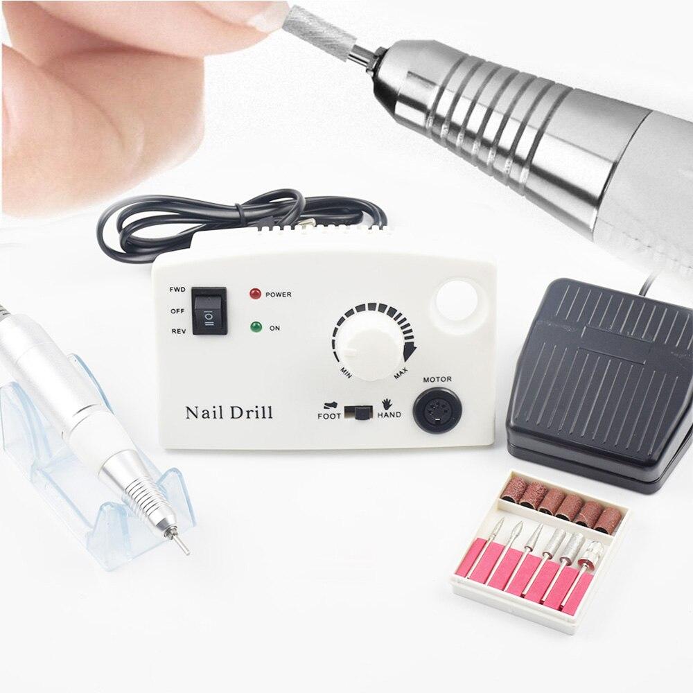 все цены на Electric Nail Drill Maniure Machine 35000RPM 25W Pro Diamond Nail Cutter Bit Pedicure Machine Nail Drill Nail Polisher Tool онлайн