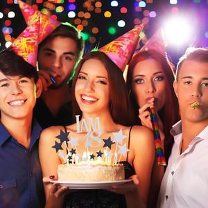 Image 4 - Sapatos de prata 18 balões para decoração, balões de metal para decoração de festas de aniversário adulto e festa de feliz aniversário 40 peças