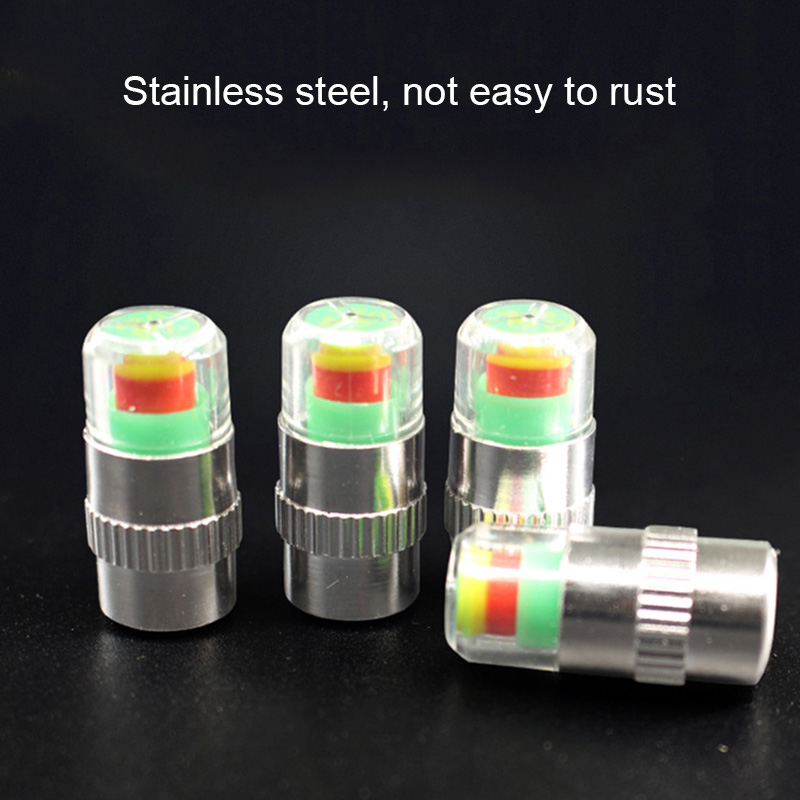 4 Pcs Car Tire Tyre Air Pressure Valve Stem Caps Sensor Indicator Alert Auto SUV XR657
