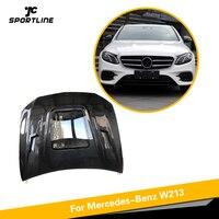 For Mercedes Benz W213 E250 E350 E43 AMG 2016 2017 2018 Carbon Fiber Auto Engine Hood Bonnet Cap Cover