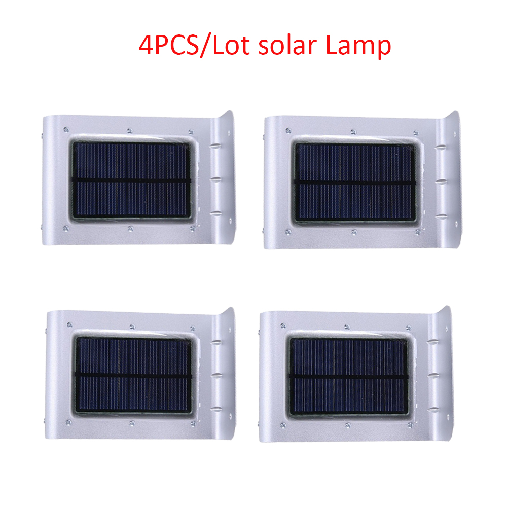 4PCS/lot 16 LED Solar Lights Led Garden Lamp Light Outdoor Waterproof Solar Motion Sensor Lighting Lights Luz Emergency Lanterna 35 led solar dimmable hanging lamp waterproof outdoor camping lights solar and ac charged tent lighting luz lampara