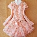 Anlencool envío gratis chicas dress primavera ropa infantil de marca nueva niña princesa dress niñas de tres piezas, falda