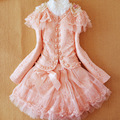 Anlencool frete grátis girls dress roupas de marca infantil primavera new little girl princess dress meninas três-peça saia