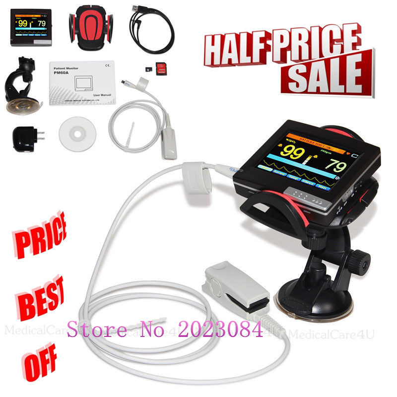 Patient Monitor SPO2 Pulse Rate Blood Oxygen Monitor Vital Sings Pulse Oximeter PM60APatient Monitor SPO2 Pulse Rate Blood Oxygen Monitor Vital Sings Pulse Oximeter PM60A