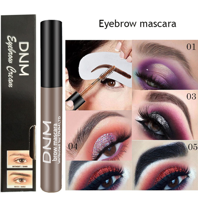 1PC Waterproof Makeup Eye Brow Gel Coffee Black Brown Color Eyebrows Gel Paint Eyebrow Tint Mascaras Kit Eye Brow Beauty Tools 1