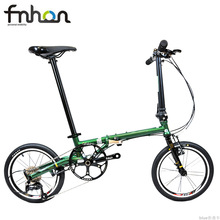 Folding-Bike Commuter Bicycle-V Fnhon Gust CR-MO 9-Speed Urban Mini Brake Velo Steel
