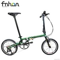 Fnhon Gust CR MO Steel Folding Bike 16 305 Minivelo Mini velo Bike Urban Commuter Bicycle V Brake 9 Speed