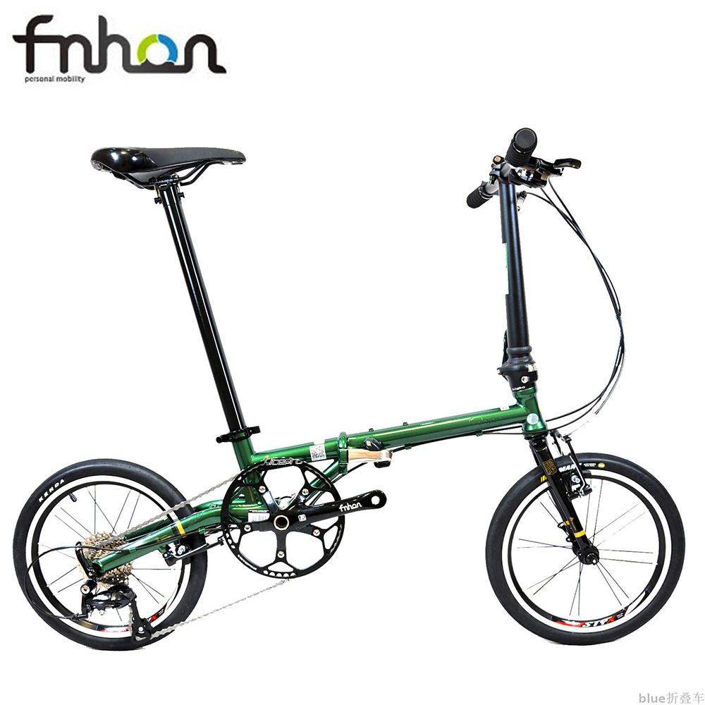 Fnhon Gust CR-MO Steel Folding Bike 16 305 Minivelo Mini velo Bike Urban Commuter Bicycle V Brake 9 Speed image
