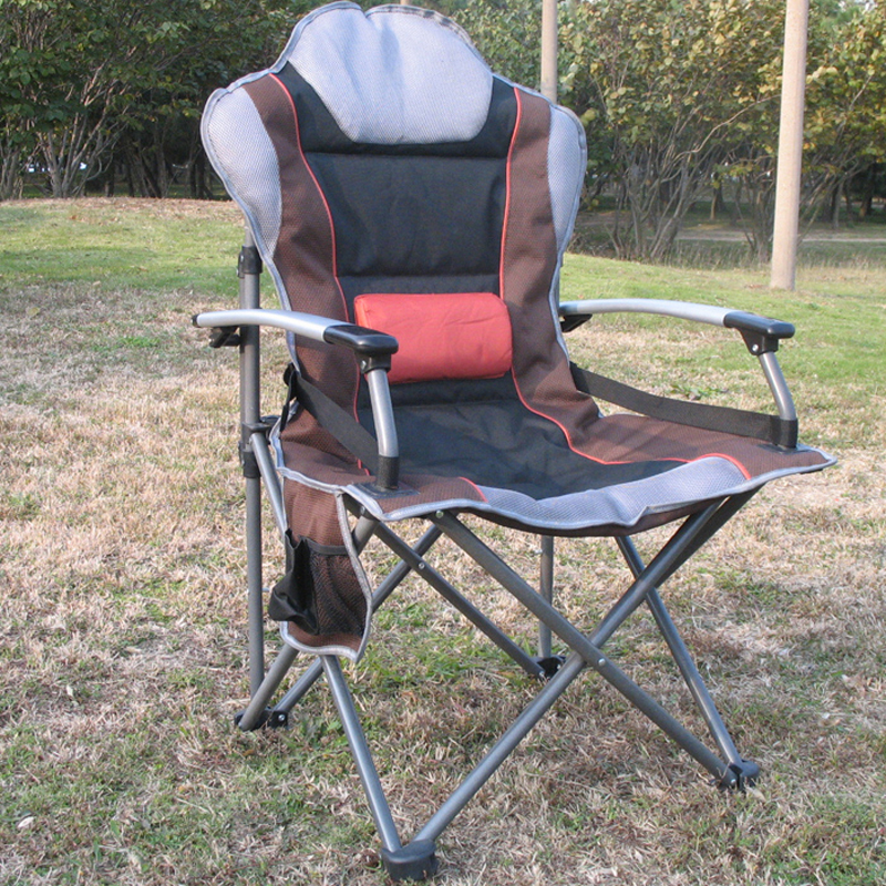 high outdoor folding chairs chair foot covers quality aluminum fabric fishing portable picnic