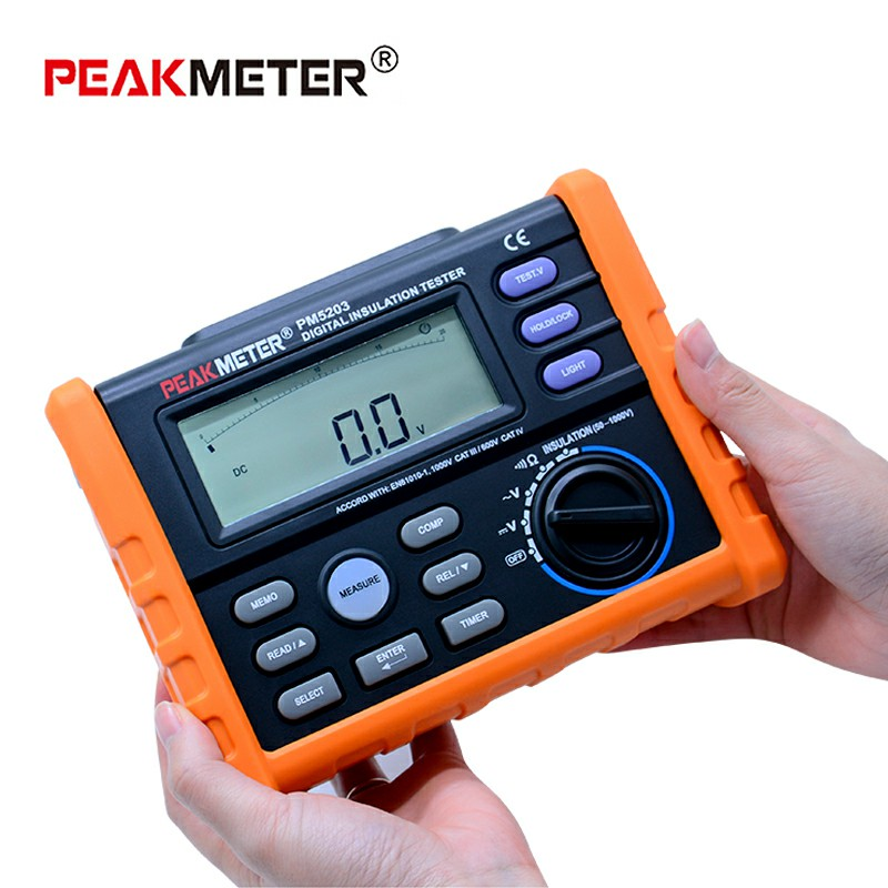 MS5203 Digital Insulation Resistance Meter Tester Multimeter Megohm Meter 0.01-10G ohm HV meter vs FLUKE F1520 mother