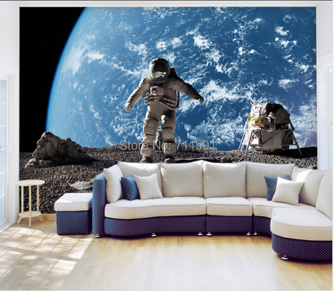 Aliexpress.com : Buy Custom Photo Wallpaper,The Astronaut U0026star Wallpaper  For Walls,3d Stereoscopic Wallpaper For Living Room Kitchen Cafe Background  From ...