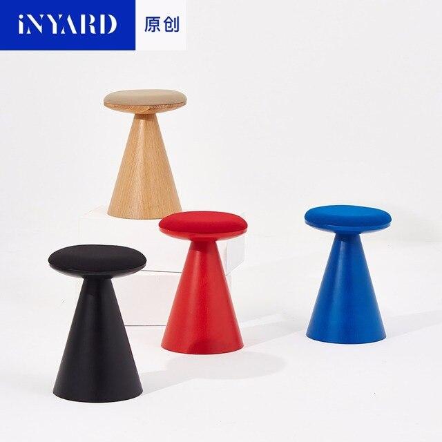 [InYard оригинальный] дерево стул минималистский обувь стул стул в Северных макияж мягкий диван стул слюни золы