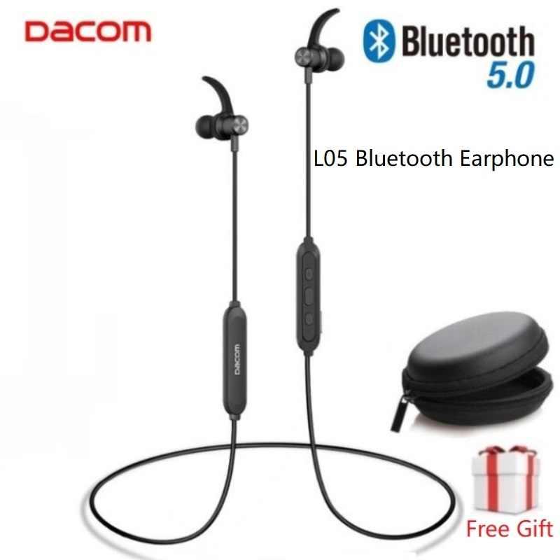 DACOM L15 auriculares inalámbricos deportivos Bluetooth 5,0 estéreo IPX5 auriculares para correr impermeables 10H música para iPhone Samsung