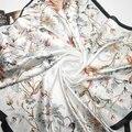 90 cm * 90 cm Bufandas Nuevo Estilo Vintage Floral de Las Mujeres Bufandas Otoño Pashmina Chal, el envío Libre 80083