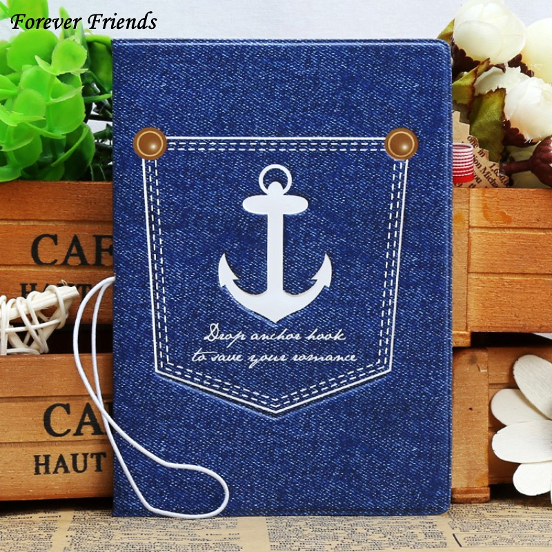 2016 Fashion PU&PVC passport Cover , ID Credit Card Cover business Card -ID Holders for travel - blue ship logo pattern