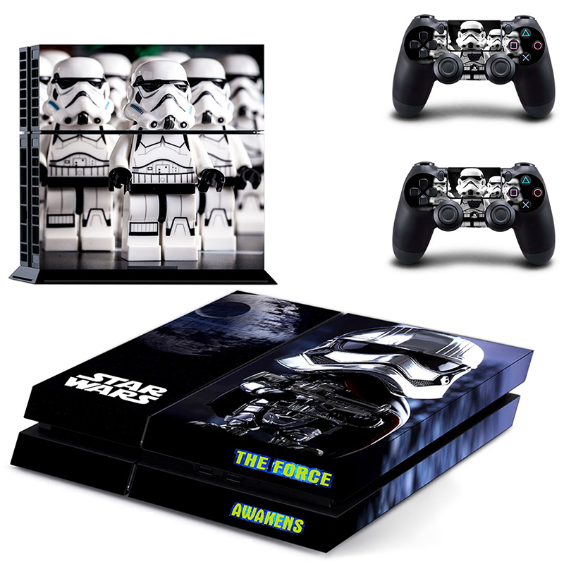 Image 5 - HOMEREALLY Stickers PS4 Skin Classic Star Wars PVC Sticker Cover For Sony Playstation 4 Console and Controller Skin Ps4-in Stickers from Consumer Electronics