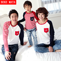 BEKE MATA Family Matching Clothing Spring Long Sleeve Striped Matching Mother Daughter Clothes Family Look Father Son Outfits