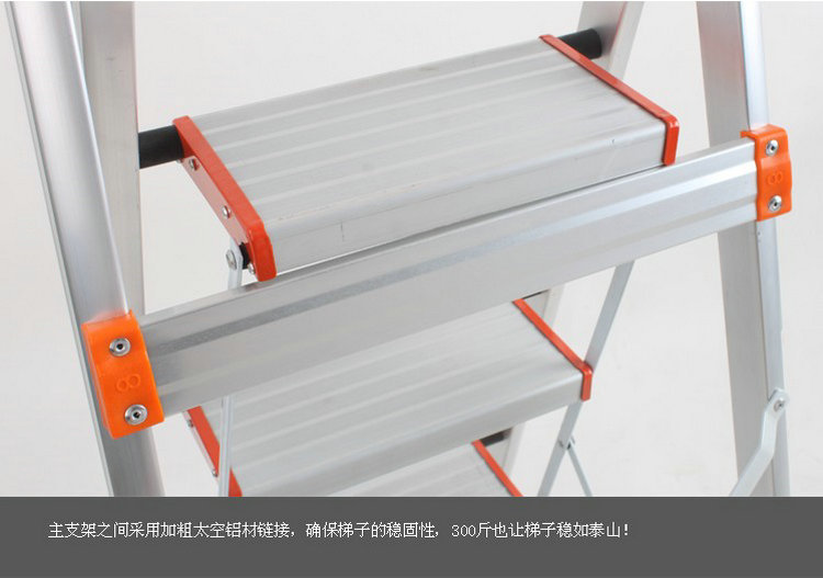 Step Met Licht : 3 stappen opvouwbare type licht aluminium step ladder trap ladder